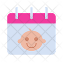 Baby Birthday Calendar Icon