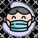 Baby Boy Wear Medical Mask Icon