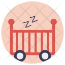 Baby Crib Sleeping Icon
