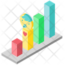 Baby development graph Icon