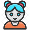 Baby Doll Face Icon