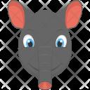 Baby Elephant Face Icon
