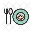 Baby Food Plate Icon