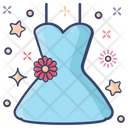 Baby Frock Dress Attire Icon
