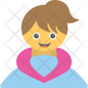 Baby Girl Cheerful Icon
