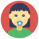 Baby Girl Pacifier Icon