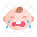 Baby Girl Crying Icon
