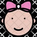 Baby Girl School Icon