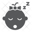 Baby Girl Sleep Icon