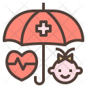 Baby Health Insurance Icon