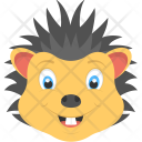 Baby Hedgehog Smiling Icon
