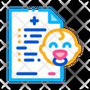 Baby Medical Document Icon