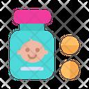 Baby Bottle Disease Icon