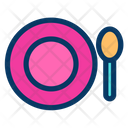 Plate Spoon Eatting Icon