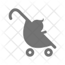 Baby Push Chair Baby Carriage Icon