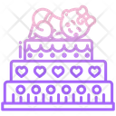Baby Shower Cake Icon