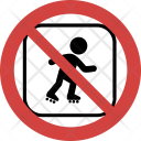 Baby skating not allowed Icon