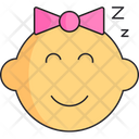 Baby Girl Head Icon