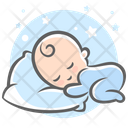 Baby Sleep Sleep Pillow Icon