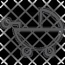 Pram Pushchair Baby Stroller Icon