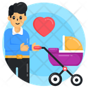 Baby Pram Baby Stroller Baby Love Icon
