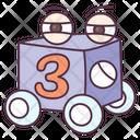 Numeric Block Kids Block Plastic Block Icon
