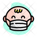 Baby Wear Medical Mask Icon