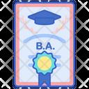 Bachelor Degree Icon