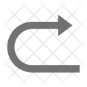 Back Arrow Curve Icon