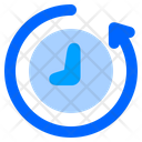 Back In Time Save Time Clock Icon