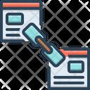 Back Link Optimization Back Blogging Icon