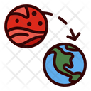 Back To Earth Launch Travel Icon