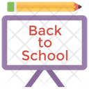 Back To School Kindergarten End Vacation Icon