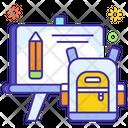 Back To School School Supplies Montessories Accessories Icon