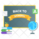 Back To School School Board Return To School Icon