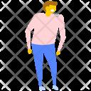 Male Patient Backache Icon