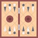 Backgammon Board Game Icon