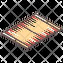 Backgammon Board Game Strategic Game Icon