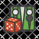 Backgammon Board Game Chess Icon