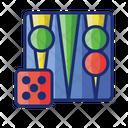 Backgammon Boardgame Chess Icon