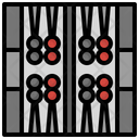 Backgammon Gaming Fun Entertainment Board Icon