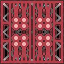Backgammon Gaming Fun Entertainment Board Icon