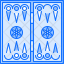 Backgammon Board Game Icon