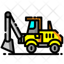 Backhoe Loader Loader Vehicle Icon