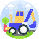 Backhoe Loader Icon