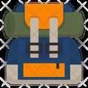 Backpack Mountaineer Hiking Icon