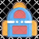 Bag Academic Backpack Icon