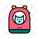 Backpack Cat Carrying Icon