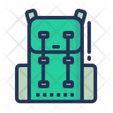 Backpack Baggage Camping Icon