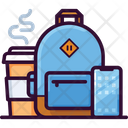 Backpack Coffee Phone Icon